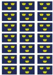 Munster Flag Stickers - 21 per sheet
